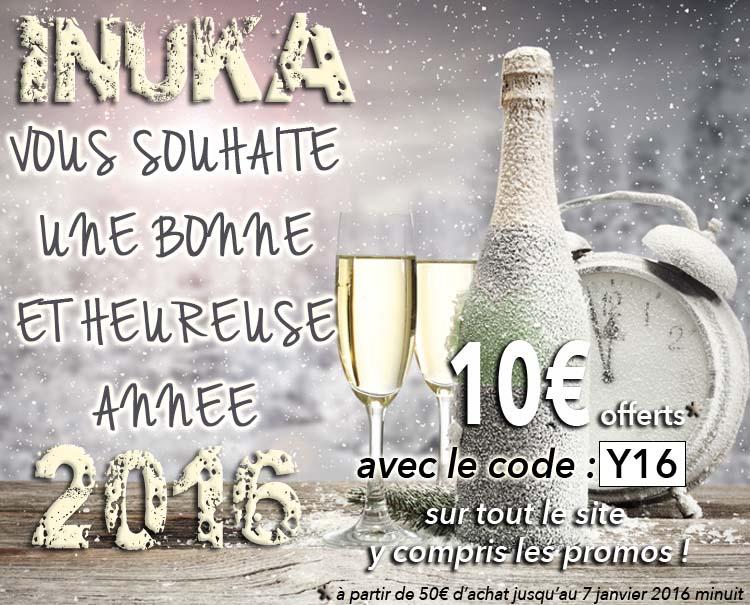 INUKA vous souhaite un bonne année 2016